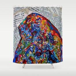 YIN YANG WORDS #society6 #decor #buyart Shower Curtain