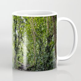 Hiking through the Rainforest on the side of the Mombacho Volcano in Nicaragua Coffee Mug