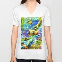 underwater V-neck T-shirts featuring Underwater by andyk77