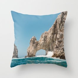 Arch of Cabo San Lucas Throw Pillow