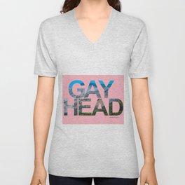 Gay Head Martha's Vineyard in Light Pink Unisex V-Neck