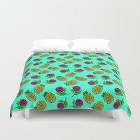 portugal Duvet Covers featuring Azores, Portugal by Golden Heart
