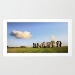 Stonehenge Summer Evening Art Print