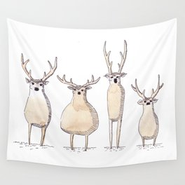 4 Chevreuils Wall Tapestry