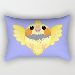 Cockatiel Birb Baby – v03 Rectangular Pillow
