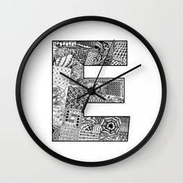 Cutout Letter E Wall Clock