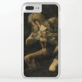 SATURN DEVOURING HIS SON - FRANCISCO DE GOYA Clear iPhone Case