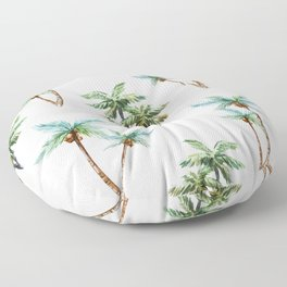 Palm Tree Pattern 01 Floor Pillow