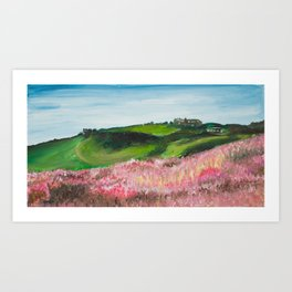 North Yorkshire, Hill and Heather Art Print