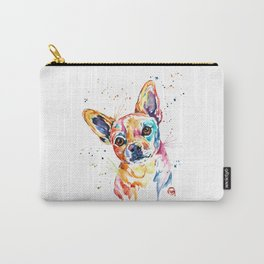 Chihuahua - Tucker - Colorful Watercolor Pet Portrait Painting Carry-All Pouch