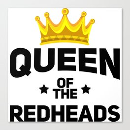 Queen of the redheads. Canvas Print