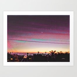 Cardiff Sunset Art Print