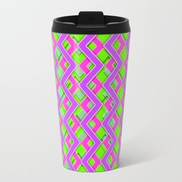 043 Abstract purple, pink and green art for home decoration Travel Mug