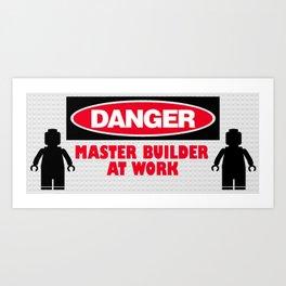 Master Builder at Work Art Print