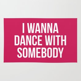 Dance With Somebody Music Quote Rug