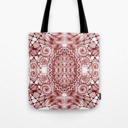 Burgundy Zentangle Tile Doodle Design Tote Bag