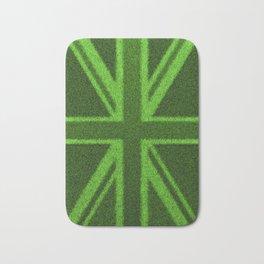 Grass Britain / 3D render of British flag grown from grass Bath Mat