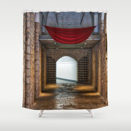 Santa Barbara Castle Shower Curtain
