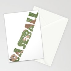 Baseball Typography Stationery Cards