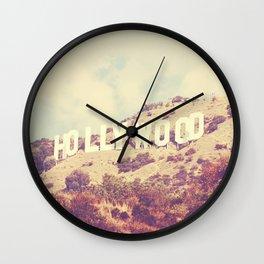 Sign. Hollywood photograph Wall Clock
