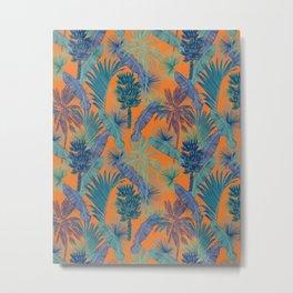 Tropical vintage pattern Metal Print