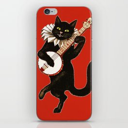 Black Cat for Halloween with Red iPhone Skin