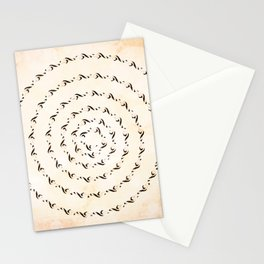 Watercolor sol key swirl Stationery Cards