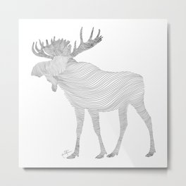 Elk Theraphy Metal Print