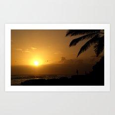 hawaii Sunset Series B Art Print