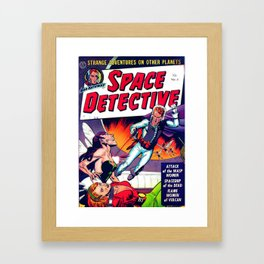 ROD HATHWAY SPACE DETECTIVE Framed Art Print