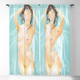 Woman in Shower Blackout Curtain