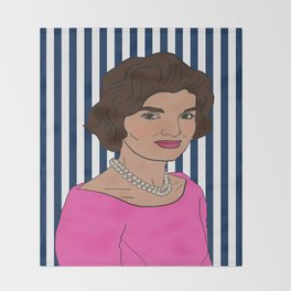 Jacqueline Kennedy Onassis Throw Blanket