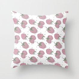 Pink raspberry Throw Pillow