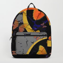 """SHABBY CHIC """"OFF THE WALL"""" BUTTERFLIES &  BLACK  ART Backpack"""