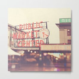 Seattle Pike Place Public Market photograph, 620 Metal Print