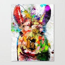 Llama Grunge Canvas Print