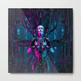 The Quantum Zen Queen Metal Print