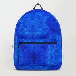 Blue Abstract Design Backpack