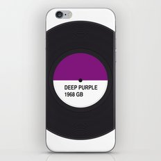 DEEP PURPLE MUSIC COLOUR iPhone & iPod Skin