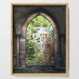 Jungle Tiger Waterfall Serving Tray