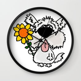 Cool funny white furr Wall Clock