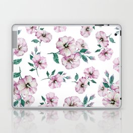 PINK FLOWERS WATERCOLOR Laptop & iPad Skin