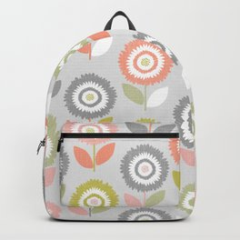 Soft Graphic Flower Pattern Backpack
