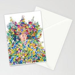 Midsommar Pen Illustration Flower Crown Stationery Cards