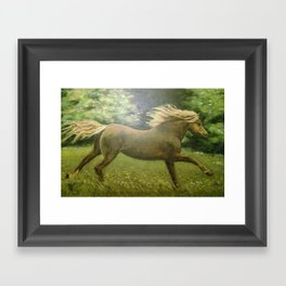 Lonely Gallop Framed Art Print