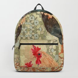 Roosters  Menage e Trois  Backpack