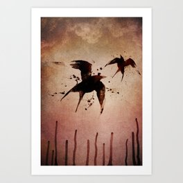 On your fears,  ... swallow them.   Art Print