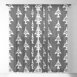 F-4 Phantom II Military Fighter Jet Airplane Sheer Curtain