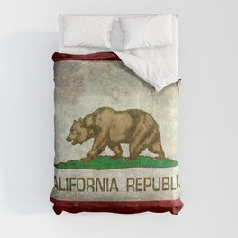 California flag - Retro Style Comforters