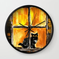 Looking out the Window Wall Clock